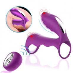 Male Penis Vibrating Ring Delay Ejaculation Cock G spot Stimulator Clitoris Massager Anal Dildo Vibrator Sex Toys for Men Women